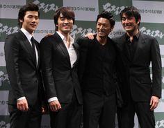 Ju Jin MO Biography | Kim Kang-woo (from left), Song Seung-hun, Joo Jin-mo, and Jo Han-sun ...