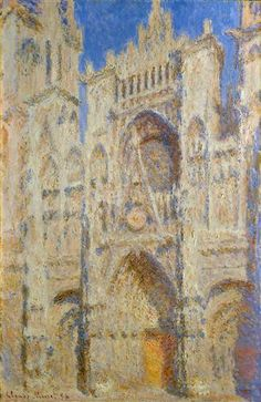 Rouen Cathedral, Portal in the Sun - Claude Monet - 1894