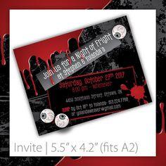 Halloween Invitation . PRINTABLE . Bloody Eyeballs ~ $20.00 ~ printable halloween invite, printable halloween invitation, halloween invite, halloween invitation, halloween party, do it yourself halloween, printable halloween, Halloween, scary invite, scary invitation, bloody halloween, bloody halloween invitation, black & red invite, black & red invitation, bloody invite #halloweenparty #halloweendecorations #halloweeninvitation #halloweeninvite ~  https://www.etsy.com/listing/108292076