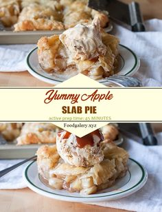 APPLE SLAB PIE Spicy Recipes, Keto Recipes, Cooking Recipes, Drink Recipes, Cake Recipes, Easy Dinner Recipes, Easy Meals, Apple Slab Pie, Pie Dough Recipe
