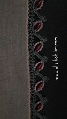 This Pin was discovered by أري Crochet Lace Edging, Crochet Baby, Knit Crochet, Crochet Patterns, Vest Pattern, Free Pattern, Crewel Embroidery, Crochet Videos, Used Iphone