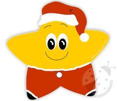 Sagoma Stella di Natale sorridente