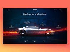 Car Leasing Website Presentation Design