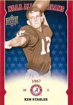 2012 Upper Deck Alabama All Americans #AAKS Ken Stabler #Alabama #RollTide #BuiltByBama #Bama #BamaNation #CrimsonTide #RTR #Tide #RammerJammer #Stabler #KenStabler