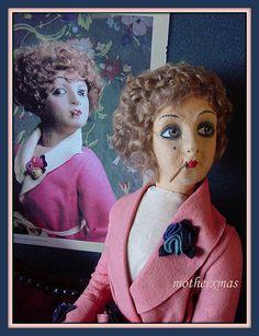 felt smoker boudoir doll | Flickr - Photo Sharing!
