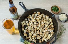 Pan Roasted Cauliflower with Rosemary, Angry Orchard Crisp Apple, and Black Pepper