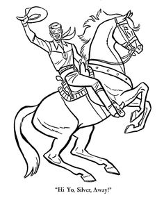 The Lone Ranger and Tonto Coloring page