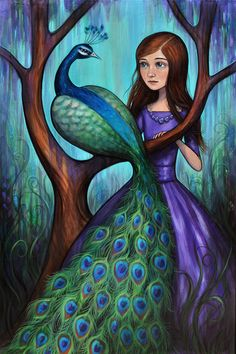 Kelly Vivanco - Art - Peacock Garden