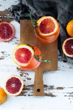 The Winter Sun cocktail with blood oranges and Aperol // Craftandcocktails.co