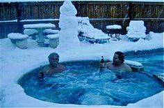 Yes, it does snow in California. This is what my hubby and son did when we were snowed in!