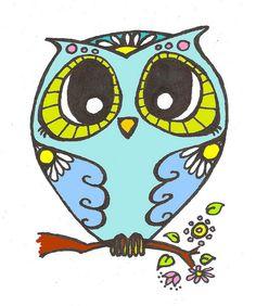 'Flower Owl' by Brilleting