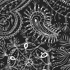 Paisley Snowflake fabric by Lana Mackinnon