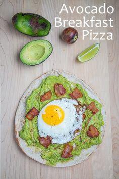 Avocado Breakfast Pizza with Fried Egg