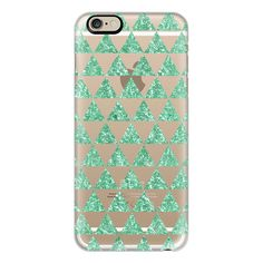 iPhone 6 Plus/6/5/5s/5c Case - Glitter Triangles in Mint - Phone... (€35) ❤ liked on Polyvore featuring accessories, tech accessories, iphone case, mint green iphone case, mint green iphone 6 case, iphone cases, mint iphone case and glitter iphone 5 case