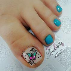 Pretty Toe Nails, Pretty Toes, Hot Nails, Toe Nail Art, Pedicure, Nail Designs, Liliana, Beauty, Instagram