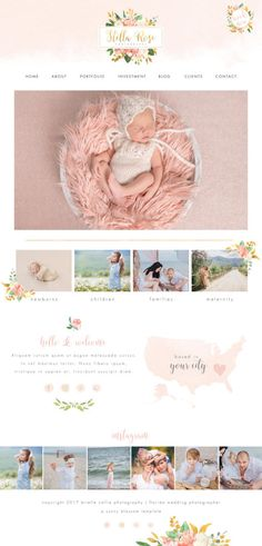 Wix Website design photography website by SunnyBlossomDesigns