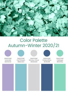 Trend Color Palette Autumn-Winter 2020/21 Optic #color #trends