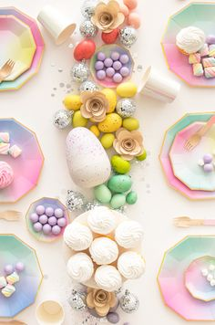Glittering Garden Party for Kids = magical tablescape in soft pastels!