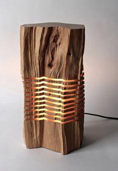 Modern Minimalist Wood Sculptures & Lighting