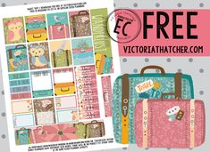 Free Sweet Trip Planner Stickers from Victoria Thatcher