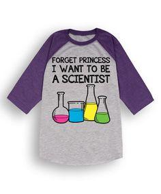 Look what I found on #zulily! Gray & Purple 'Forget Princess' Raglan Tee - Toddler & Girls #zulilyfinds