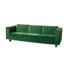 sofá verde veludo | Loja Teo