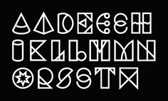 Geometric Type by David Mcleod quickly becoming my favorite type designer