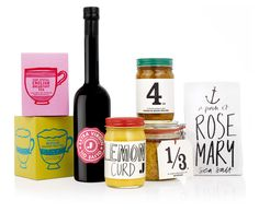 Hand-drawn type makes these products even more tasty
