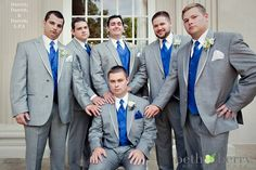 wedding - love the blue and gray