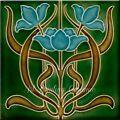 Art Nouveau Ceramic decorative wall t...