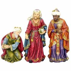 Christmas Wise Men Decoration Realistic 3Piece Wise Men Traditional Figurine Set #GiftUIO