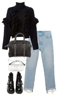 """Untitled #3717"" by theeuropeancloset on Polyvore featuring M.i.h Jeans, Jeffrey Campbell, 3.1 Phillip Lim, Givenchy and Melissa Joy Manning"