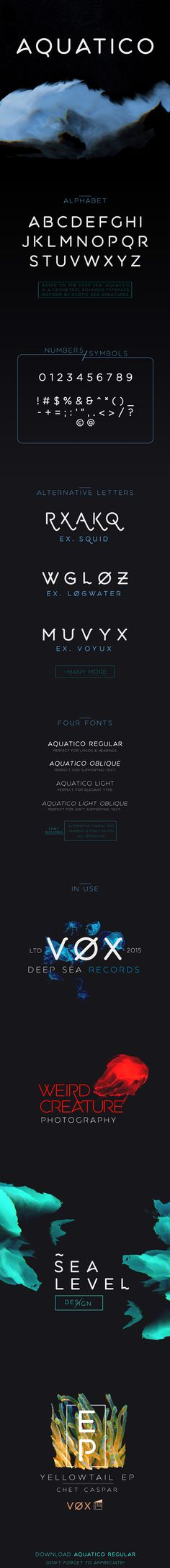 Aquatico - Free Typeface on Typography Served