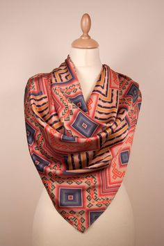 Puquypacha I Silk Crepe Satin Scarf by ViviAndeanDesigns on Etsy, £165.00
