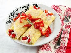 French Style Fruit crepes