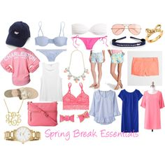 """Spring Break Essentials"" by sweetprep101 on Polyvore"