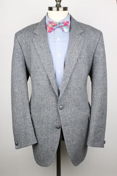 Grey Blue Mens Tweed Jacket  Bunratty by ThePlaidBowTie on Etsy