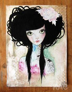 PaperbabeStamps ~ Doll Face & Oriental zen Designer ~ Kim Costello
