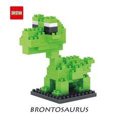 Amazon.com: Jurassic World Dinosaurs Brontosaurus Diamond Building Blocks Models: Toys & Games