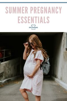 Summer is officially here! That means sun and lots of fun! Being pregnant in the summer comes with lots of benefits and a few challenges too. We've compiled a list of summer pregnancy essentials so you and your bump can have the best summer ever! // Gift Gowns Maternity -- #motherhood #newmom Pregnancy Advice, Comfy Dresses, Bump, How Are You Feeling, Essentials, Challenges, Summer, How To Wear, Knot