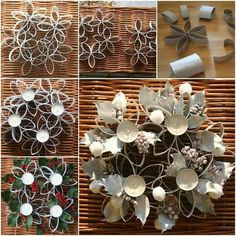diy-pretty-candle-holder-using-toilet-paper-roll-i and many other ideas for diy candle holders Paper Towel Roll Crafts, Paper Towel Rolls, Toilet Paper Roll Art, Toilet Paper Roll Crafts, Diy Candle Holders, Diy Candles, Small Candles, Paper Quilling, Paper Flowers