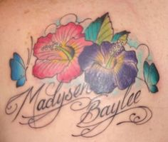 Tattoos: Flowers and Butterflies # 3