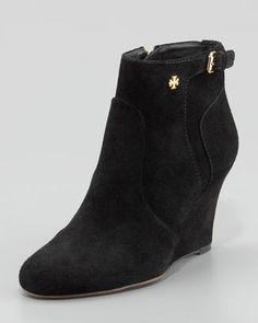 Milan Suede Wedge Bootie by Tory Burch at Neiman Marcus.