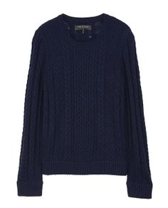 rag & bone Official Store, Peyton Pullover, navy fl, Womens : Ready to Wear : Sweaters : Wool, W236666KF