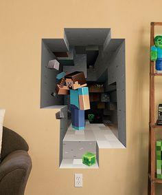 Look what I found on #zulily! Minecraft Mining Wall Cling Set by Minecraft #zulilyfinds