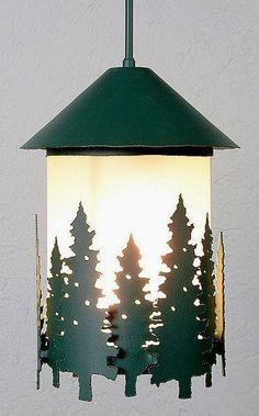 Vista Pine Tree Ext. Hanging Lantern