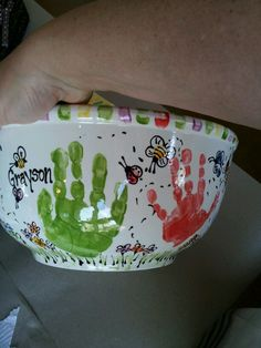 Hand and fingerprint bowl