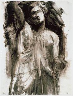 The Morgan Library & Museum Online Exhibitions - Jim Dine: The Glyptotek Drawings Online Exhibition - Glyptotek Drawing (blurred or pentimenti) James Rosenquist, Neo Dada, Jim Dine, Cool Drawings, Figure Drawings, Morgan Library, Drawing Projects, New York Art, Life Drawing
