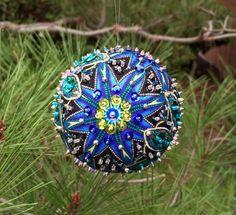 Sequin Beaded Fabric Ornament