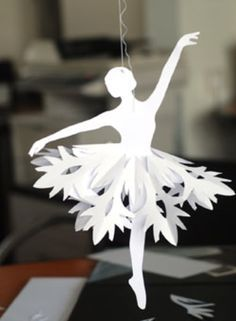 Wonderful DIY Paper Snowflake Ballerinas | WonderfulDIY.com